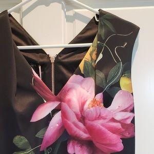 Ted Baker NWT Citrus Bloom Pleat Midi Dress 3 (M)